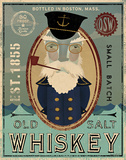 Fisherman III Old Salt Whiskey Posters by Ryan Fowler