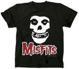 The Misfits- Fiend Skull Red Logo Tričko