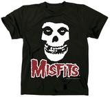 The Misfits- Fiend Skull Red Logo T-Shirt