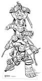 Teenage Mutant Ninja Turtles - Colour-In Cardboard Cutout Papfigurer