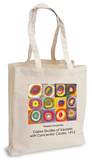 Wassily Kandinsky - Colour Studies of Squares with Concentric Circles, 1913 Tote Bag Borsa shopping