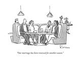 """Our marriage has been renewed for another season."" - New Yorker Cartoon Premium Giclee Print by John Klossner"