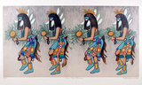 Zuni Rain Dancers Collectable Print by Alice Asmar