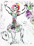 Woman Juggler Premium Edition by Marc Chagall