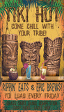 Tiki Lounge Wood Sign
