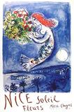 Nice, Soliel, Fleurs (La Naie des Anges) Premium Edition by Marc Chagall