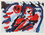 Three Smiling Faces Premium-versjoner av Karel Appel