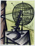 Microscope Collectable Print by Bernard Buffet