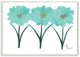 Turquoise Tulips Wood Sign