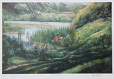 Kids at the Marsh Collectable Print by Neville Clarke