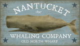 Nantucket Whale Wood Sign