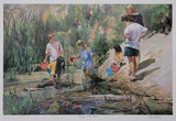 Playing at the Beach Collectable Print by Neville Clarke