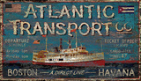 Atlantic Transport Wood Sign