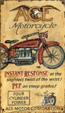 Ace Motorcycles Wood Sign