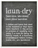 Laundry Definition Chalk Look Wood Sign
