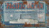 Pacific Transport Wood Sign