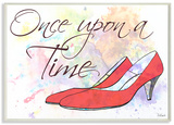 Watercolors Once Upon a Time Slippers Wood Sign