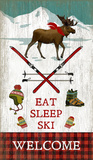 Eat Sleep Wood Sign