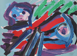 Walking with my Bird Premium-versjoner av Karel Appel