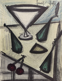 Cocktail Glass Collectable Print by Bernard Buffet