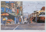 Market Day Collectable Print by Neville Clarke