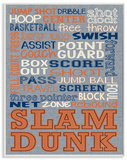 Basketball Typography Denim Feel Wood Sign