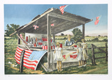 Outside the Limits (Fireworks Stand) Collectable Print by Clarence Holbrook Carter