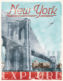 Explore New York NYC Vintage Wood Sign