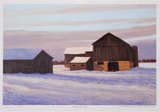 Snowy Morning Collectable Print by Norman R. Brown