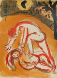 "Cain and Abel from ""Drawings for the Bible"" Premium Edition by Marc Chagall"