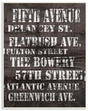 Fifth Avenue Distressed New York City Streets Wood Sign
