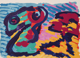 Untitled - Snake Premium Edition by Karel Appel