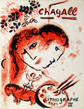 Cover from Lithographe III Collectable Print by Marc Chagall