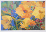 Sun Filled Flowers Collectable Print by Zora Buchanan