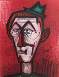 Clown (Red) Collectable Print by Bernard Buffet