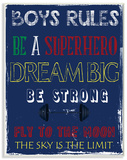 Boys Rules The Sky is the Limit Wood Sign