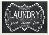 Laundry Good Clean Fun Chalk Look Wood Sign