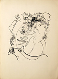 Le Deux Profiles from Derrier le Miroir Collectable Print by Marc Chagall