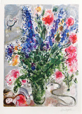 Les Lupins Bleus Premium Edition by Marc Chagall