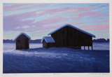 Three Barns Collectable Print by Norman R. Brown