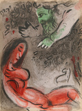 "God rebukes Eve from ""Drawings for the Bible"" Premium Edition by Marc Chagall"
