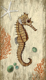 Rustic Seahorse Wood Sign