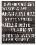 Division St Distressed Chicago Streets Wood Sign