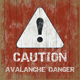 Avalanche 5 Wood Sign