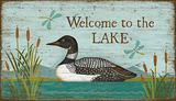 Loon Welcome Wood Sign