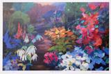 Through the Garden Collectable Print by Zora Buchanan