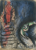 "Ahaseurus banishes Vashti from ""Drawings for the Bible"" Premium Edition by Marc Chagall"