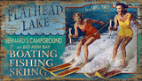 Ski Flathead Wood Sign