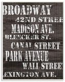 Broadway Distressed New York City Streets Wood Sign
