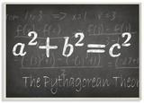 The Pythagorean Theorm Wood Sign